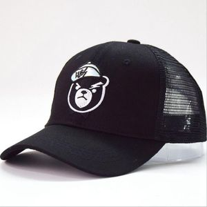 8598c5973 Cute Children Kids 100% Cotton Baseball Caps Distressed Trucker Hat With  Embroidery Bear
