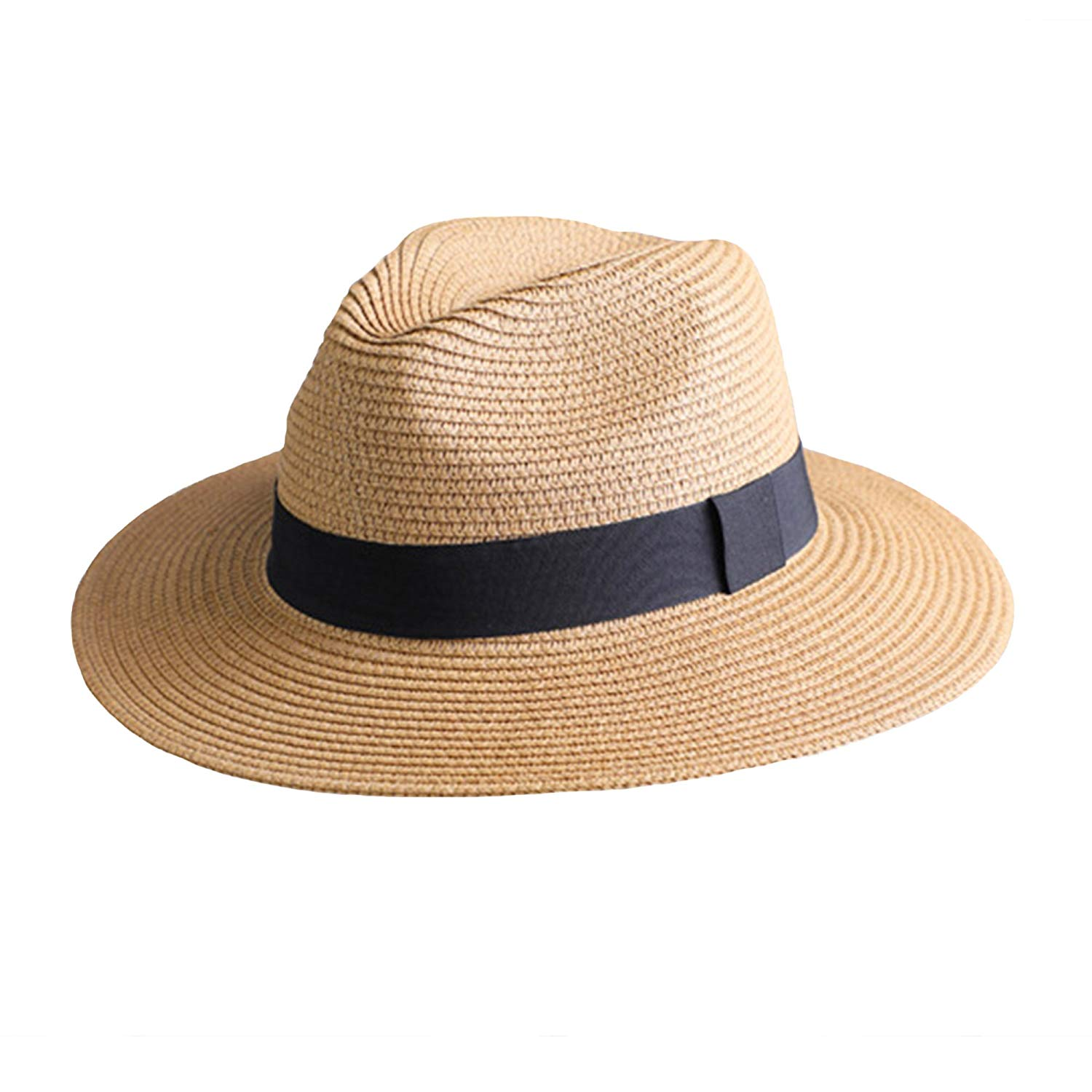 655a406e Get Quotations · Ksenia Fedora Hat for Women Packable Wide Brim Straw Hat