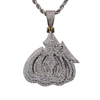 New Design Iced Out 3D Allah Pendant