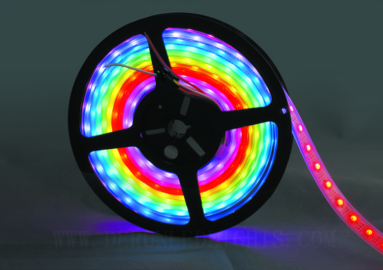 Hot Koop Optioneel 5 V Volledige Kleur Programmeerbare WS2812 IC RGB LED Tape Strip