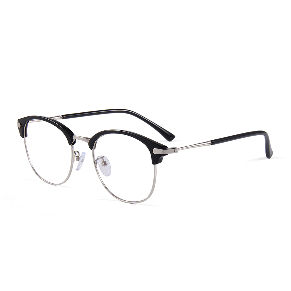 Men's Eyewear Frames Honest Men Glasses Half Rim Eyeglasses Alloy Metal Frame Optical Lens Prescription Eye Glasses Frame Eyewear Black Gray Gold Silver Latest Technology Men's Glasses