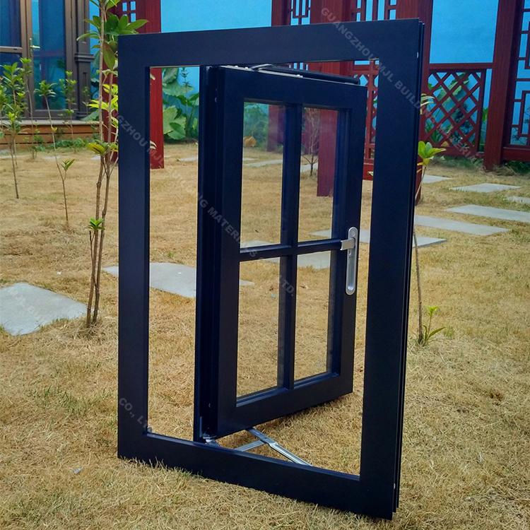 Wohn Flügelfenster Horizontale Aluminium Schwenk Fenster Mit Grid ...