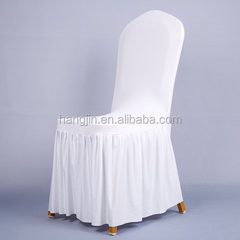 Ruched Spandex Chair Cover/ruffled Box Pleat Skirt Elastic Chair  Cover/celebration Decoration Chair