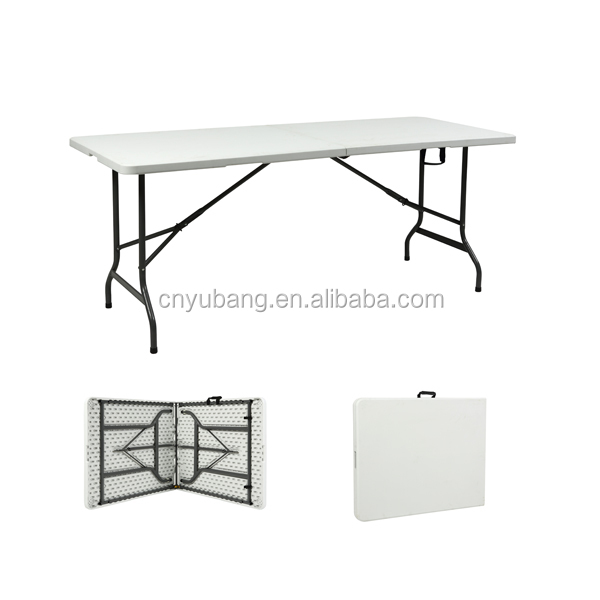 Yes Folded and Plastic Material suitcase folding table