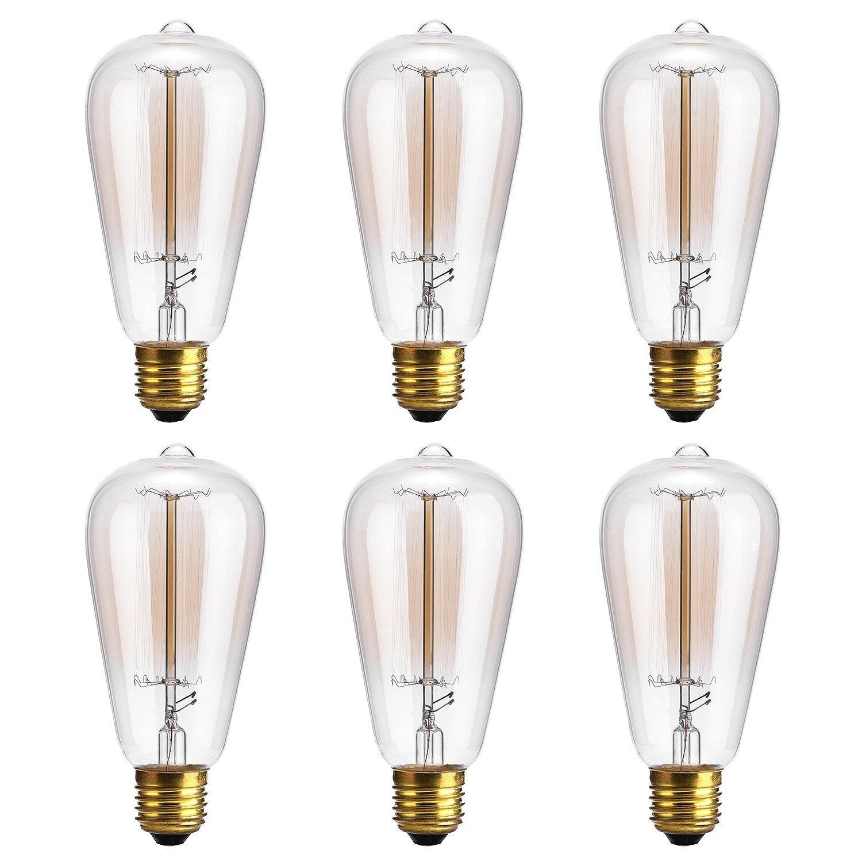 Get Quotations Edison Bulb Oak Leaf 40w Filament Long Life Vintage Antique Style Incandescent Amber Gl Light