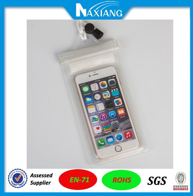 High Quality transparent white EVA waterproof cell phone bag