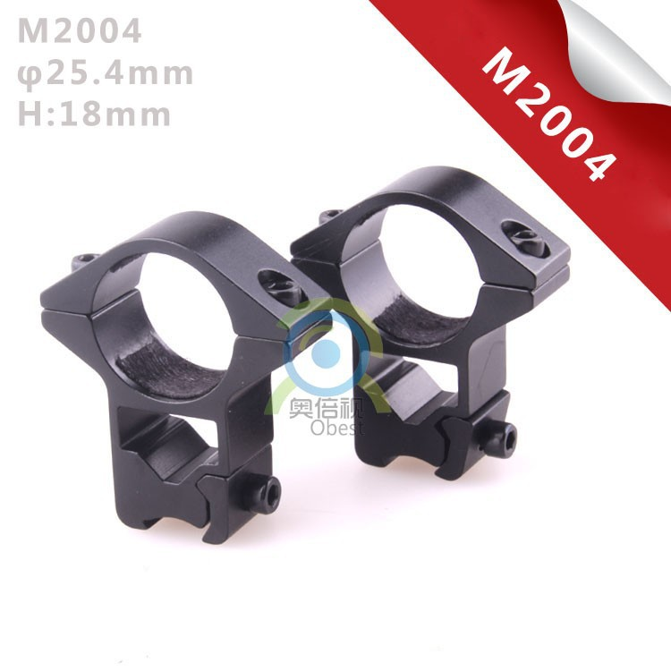 "2pcs Low Profile 25.4mm 1"" Scope Rings Fits 11mm Dovetail Rail Scope Mount Free Shipping"