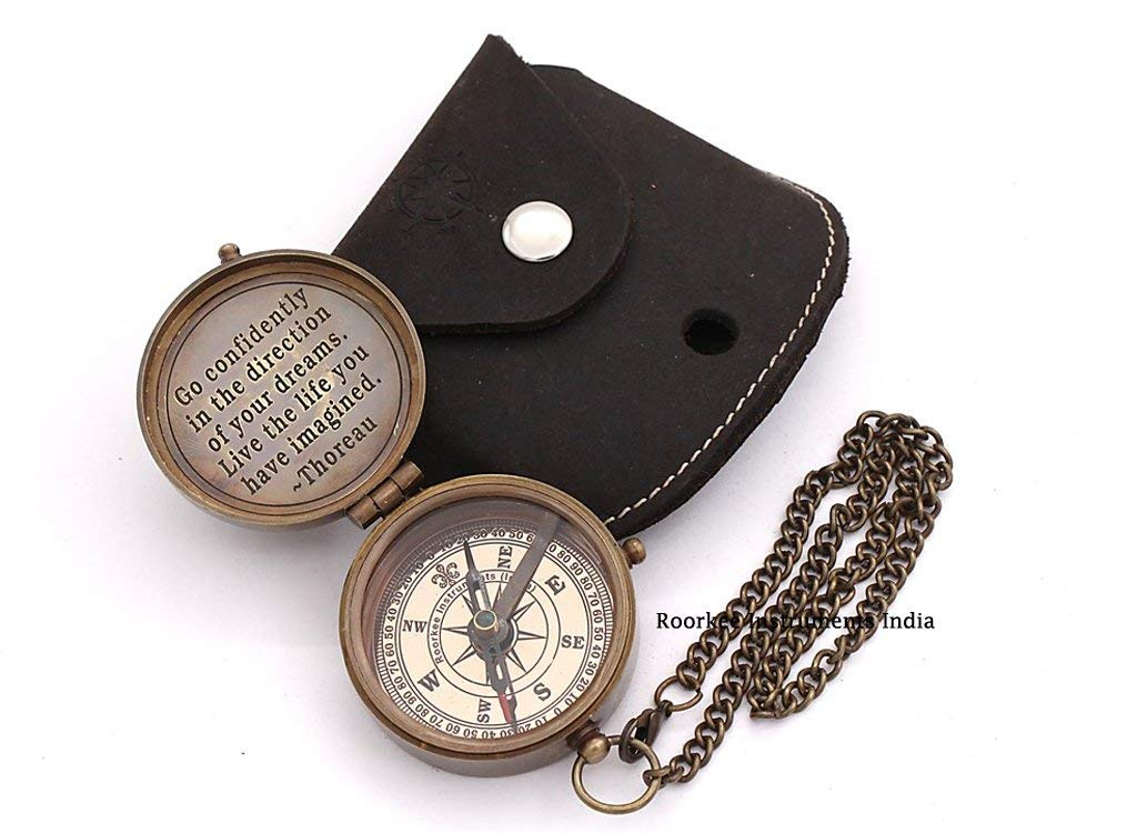 Workmanship Fine Lot Of 50 Pcs Maritime Vintage Silver Finish Locket Style Brass Pocket Compass Exquisite In