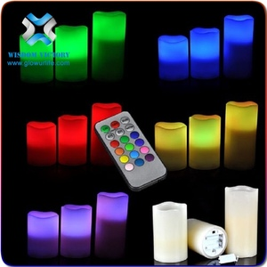 christmas LED candle,High Quality New Design Real Wax Led Candle Light ,flickering flame led wax candles