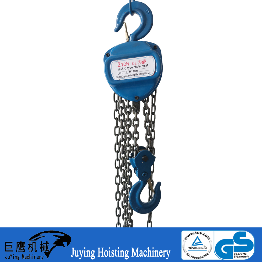 Hot sale 2 ton HSC type manual chain block and tackle pulley