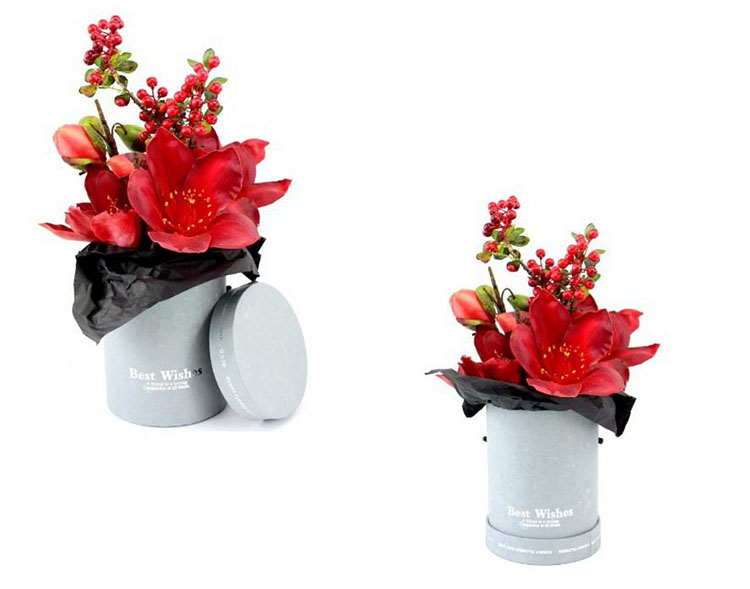 European Style Arrangement Gift Hug Bucket Mini Round Flower Box