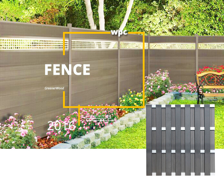 Easy installation cheap wood yard fencing wpc fence buy for Easy fence installation