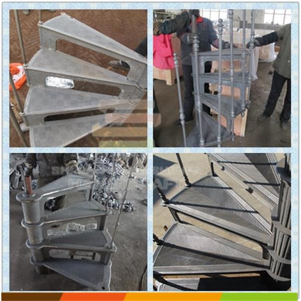Metal Stair Parts Cast Iron Steps For Spiral Staircases