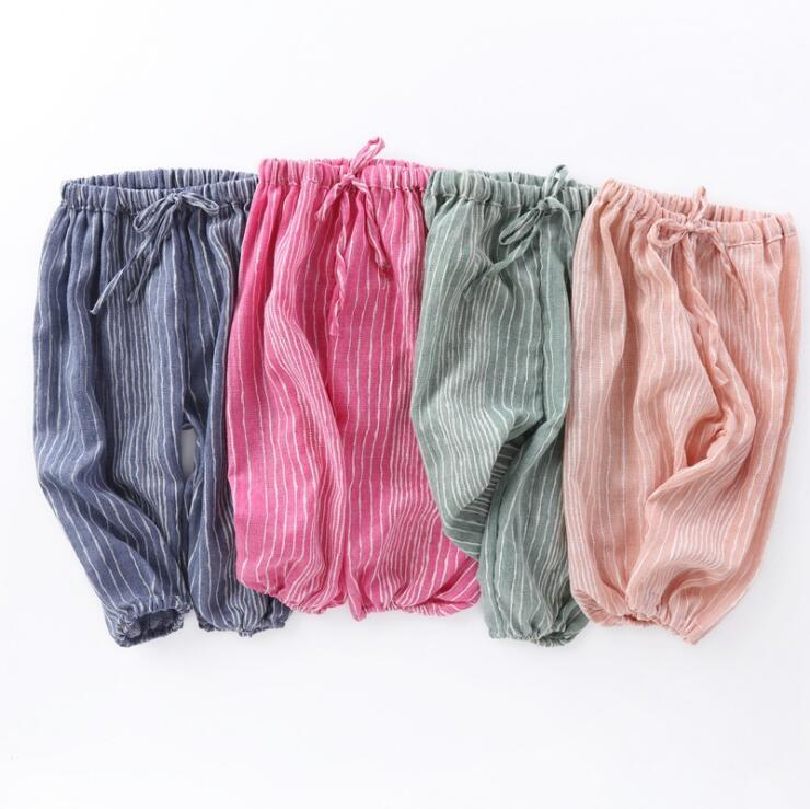 LM3448Q Summer children cotton pants pure color printing baby bloomers