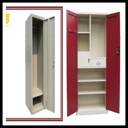 Henan Luoyang Powder Coated Metal Storage School Office Colourful Locker/2 Door  Cloth Wardrobe