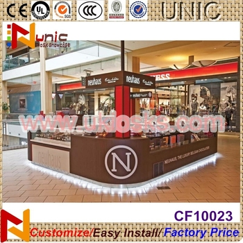 Crepe Mall Kiosk Stand Street Food Kiosk For Crepe Display Showcase Design  Led Strip Decoration - Buy Food Kisok,Stand Street Food Kiosk,Crepe Mall