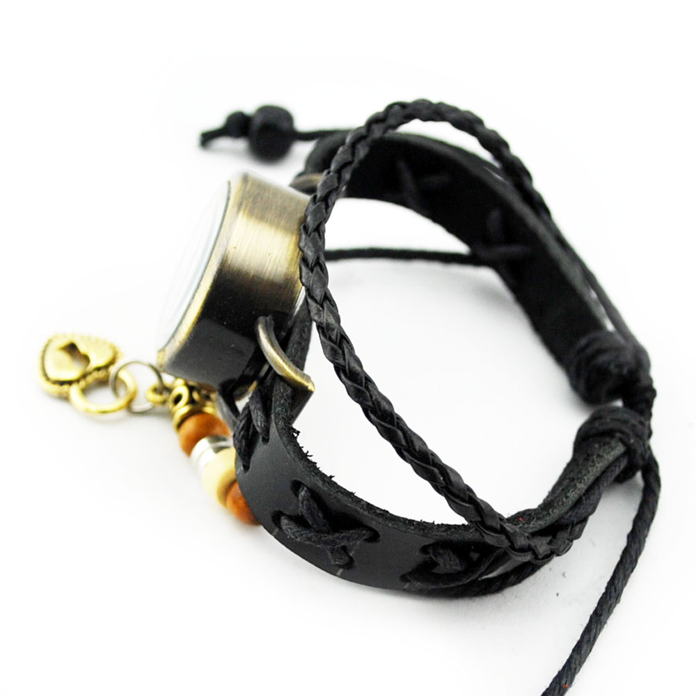 2014 newest styles watch tibet charm leather bracelet FRDB001