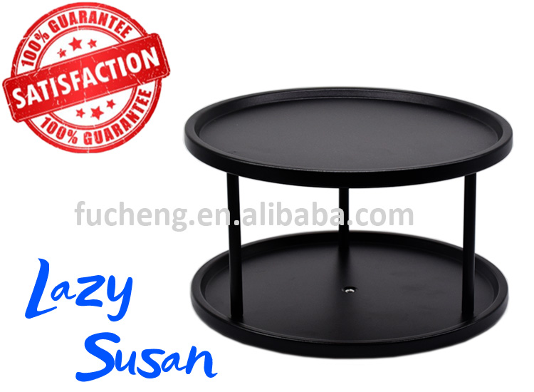 Kitchen Cabinet Organizer 10 Inch 2 Tier Lazy Susan Turntable In Color  Coating