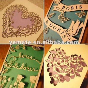 Laser Cut Paper Craft Handmade Birthday Cardhandmade 3d Birthday