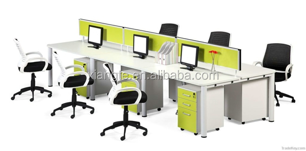 wood office cabinet. Beautiful Design 6 Seat Wooden Office Desk With Partition, Commercial Furniture Wood Tabble Cabinet