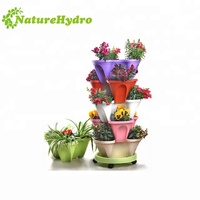 Stackable vertical flower pot home garden
