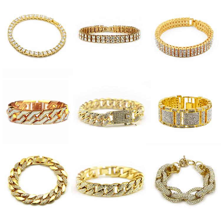 RAKOL Neueste Retro 18 karat Gold Überzogene Religiöse Geschenke Allah Muslimischen Armreif Gravierte Armbänder HB020