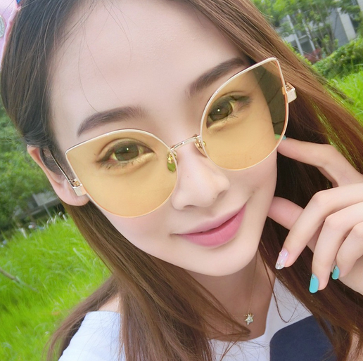 2017 brand new wholesale metal cat eye sunglasses