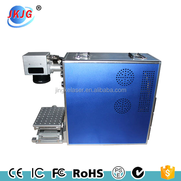 High power Portable metal fiber laser marking machine for logo text ceramic jewelry