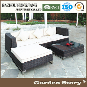 Outdoor Furniture Rattan New Model 3 Seaters Sofa Sets