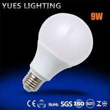 9W A60 led bulb 810 lum good shinging china production