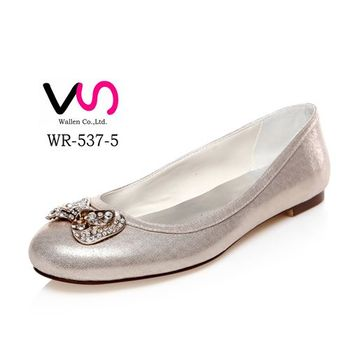 Silver Communion Shoes For Kids Flower Girls WR 537 5 Lady Dress Shoes  Bridal