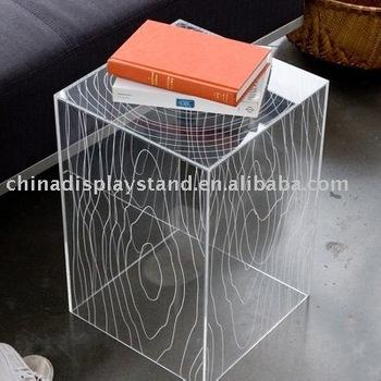 Acrylic End Side Tablelucite Cube Tea Tablesacrylic Furnitures - Acrylic cube side table