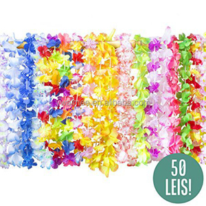 2014 Yiwu Aimee hotsale yellow led hawaii flower lei,hawaii flower lace(AM-HW03)