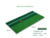 "12""x24"" Double color mini short grass golf hitting mat with white line and Rubber Tee Holder"