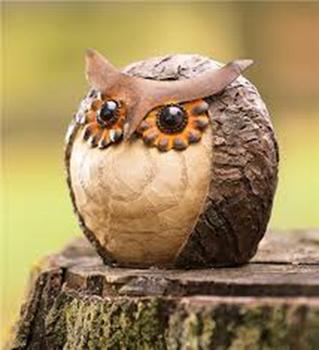 Cute Animal Figurine Resin Owl Statue Fairy Garden Decor