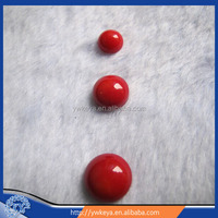 red coral round shape cabochon/ring surface/ring accessories 12mm
