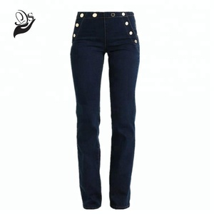 Zipper Close Enzyme Washed Bootcut Ladies Jeans
