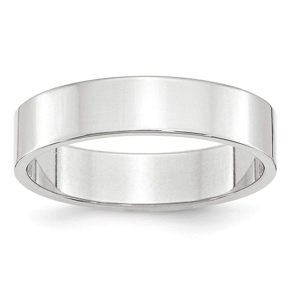 Perfect Jewelry Gift 14KW 5mm LTW Flat Band Size 4.5