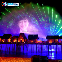FREE DESIGN Cheap Laser Projector Water Screen Movie