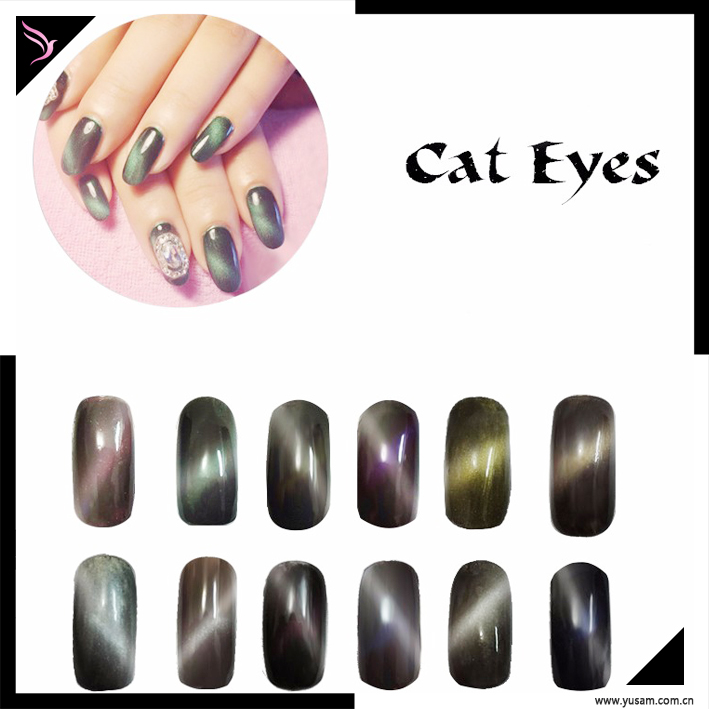12 Colors New Cat Eye Effect Magic Mirror Chrome Nail Powder - Buy ...