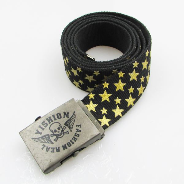 shenzhen supplier stylish metal buckle cool belts for boys