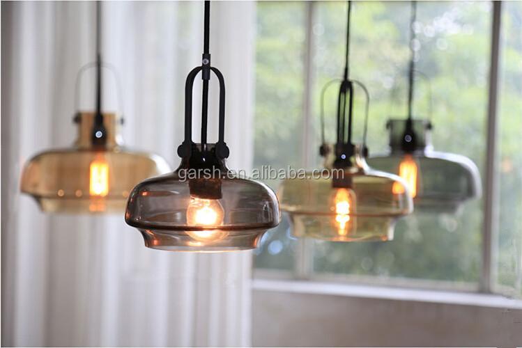 Industriele Hanglamp Keuken : Industriële glas keuken opknoping lichten glasvezel vintage hanglamp