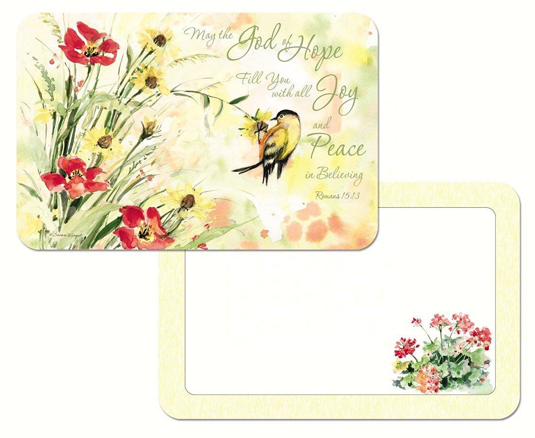 Counter Art CART40438 Chickadees /& Butterflies Reversible Placemat