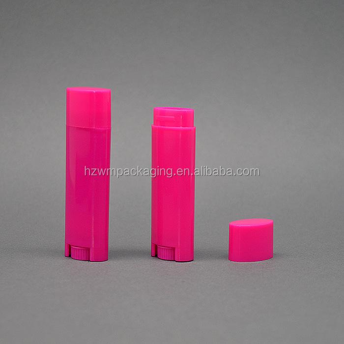 4.5g food grade oval lip balm container lipstick,colorful lipstick