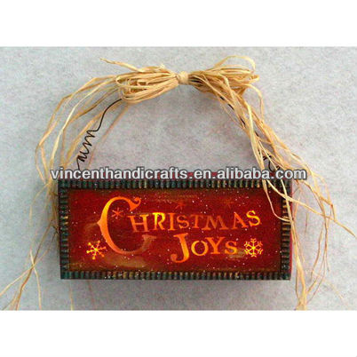 Light-Up holiday wooden chalkboard hanging signs primitive Christmas wood craft signs