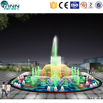 With Underwater Fountain Lights Swimming Pool Fountain Music Program ...