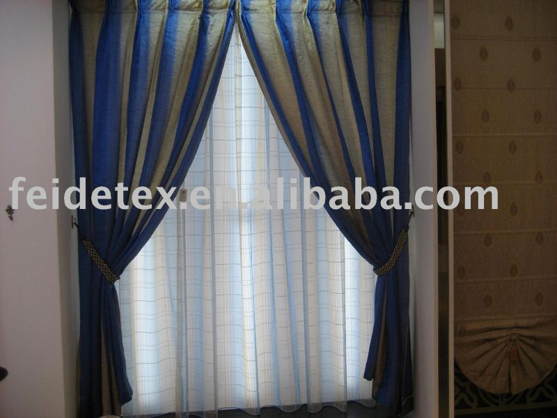 hot sales european style multicolor Readymade Curtain