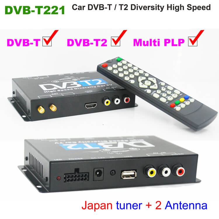 DVB-T265 Germany dvb-t2 car <strong>tuner</strong> H.265 HEVC 2017 New Model