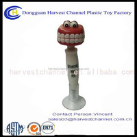 tooth shape promotional plastic ballpoint pen