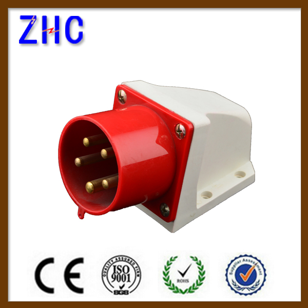 CE Approval 32A 380V 3P+N+E 5 pin IP44 Water resistant industrial plug